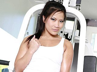 Christina Aguchi Asian babe at gym